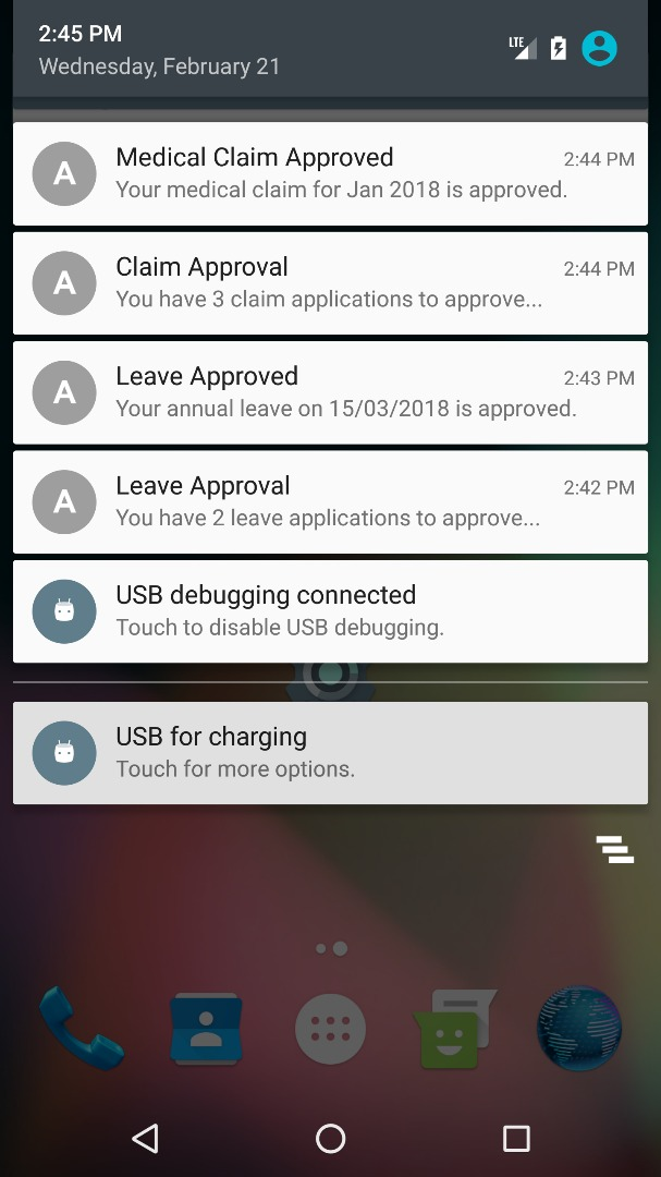 approved notification